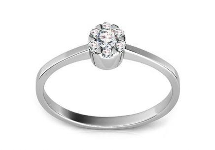 Engagement Ring with 0,100 ct Diamonds Kelly white