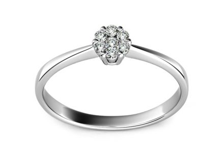 Engagement Ring with 0,110 ct Brilliants Passion 2 white