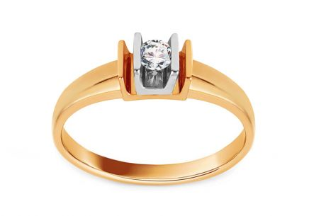 Engagement Ring with 0,110 ct Diamond Luxury