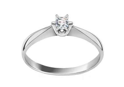 Engagement Ring with 0.110 ct Si1/G Diamond Nela young white
