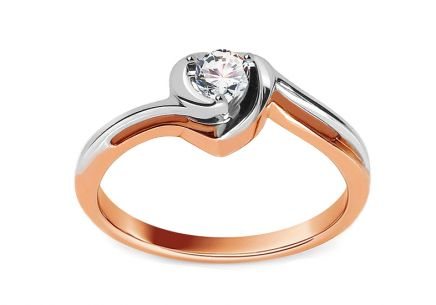Engagement Ring with 0,150 ct  Diamond Etos 1