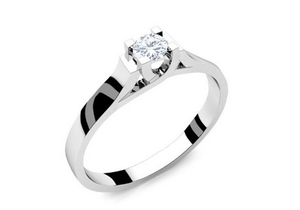 Engagement Ring with 0,180 ct Diamond Power Of Love 3