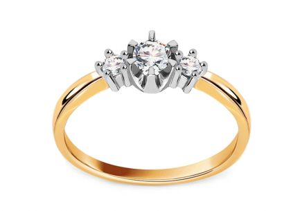 Engagement Ring with 0.250 ct Brilliants Triple of love