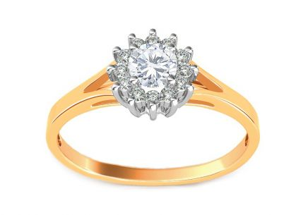 Engagement Ring with 0.360 ct  Diamonds Marquis
