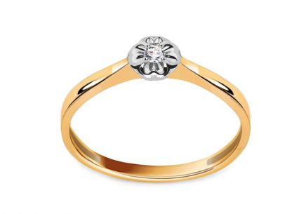 Engagement Ring with Brilliant 0,030 ct Lyanna