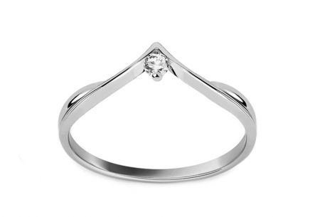 Engagement Ring with Brilliant 0,040 ct In Love white