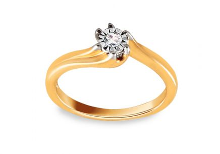 Engagement Ring with Brilliant 0,040 ct Mariya 2