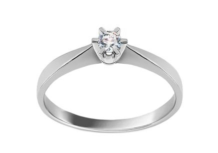 Engagement Ring with Brilliant 0.054 ct Nela little white