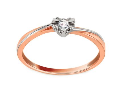 Engagement Ring with Diamond 0,050 ct Coeur