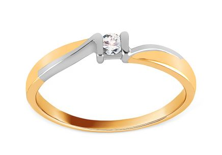 Engagement Ring with Diamond 0,070 ct Sheila