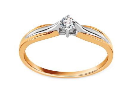 Engagement Ring with Diamond 0,080 ct Aclarado 9
