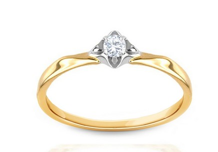 Engagement Ring with Diamond 0,085 ct Always