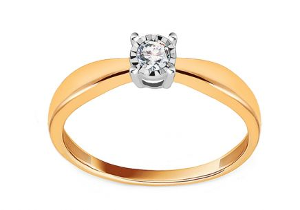 Engagement Ring with Diamond 0,100 ct Promise