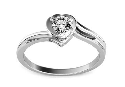 Engagement Ring with Diamond 0,150 ct Etos 1 White