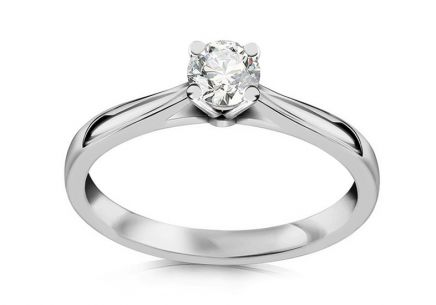 Engagement Ring with Diamond 0.211 ct Si2/E Estelle large white