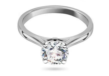Engagement Ring with Diamond 1.040 ct Estelle white