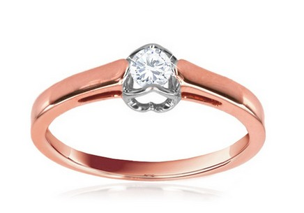 Engagement Ring with Diamond Etos 0,150 ct