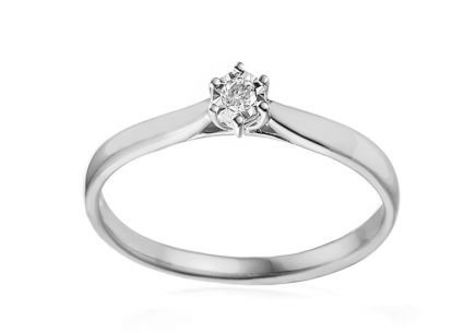 Engagement Ring with Diamond Lawanda 2 white