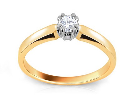 Engagement Ring with Diamond Scree