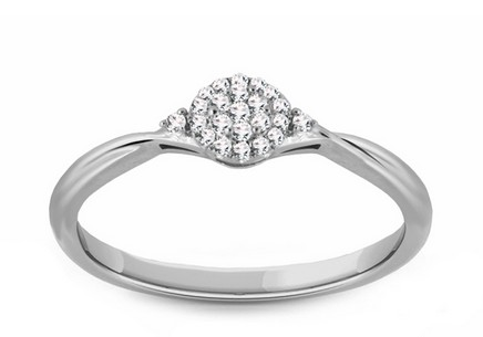 Engagement Ring with Diamonds 0,120 ct Jenny white 3