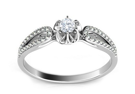 Engagement Ring with Diamonds 0,250 ct Marissa 1