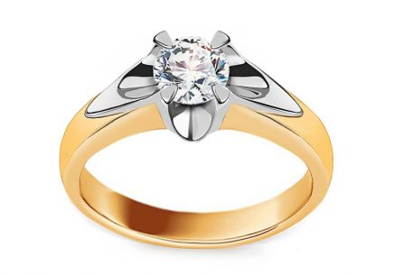 Engagement Ring with Shining 0.5 Carat Diamond 0.500 ct Always big 2