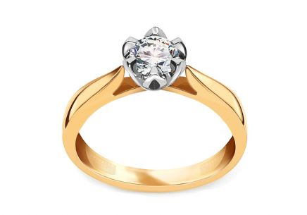 Engagement Ring with Shining Half Carat 0,500 ct Diamond Julie