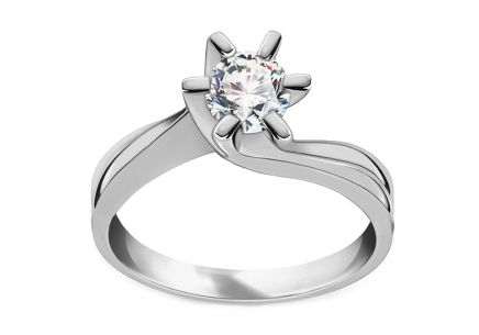 Engagement Ring with Stunning 0.5 Carat Diamond Jeanne white 0.500 ct