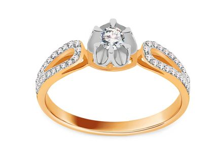 Gold Brilliant Engagement Ring 0.250 ct