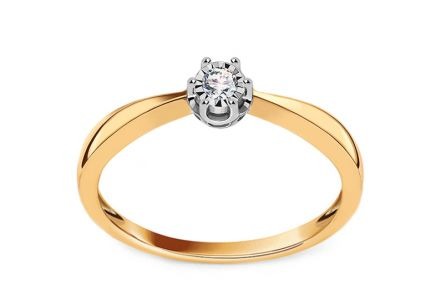 Gold Diamond Engagement Ring 0.050 ct Wynona 4