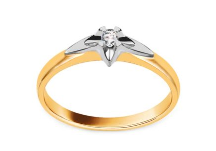 Gold Engagement Ring with Diamond 0.040 ct  Always collection
