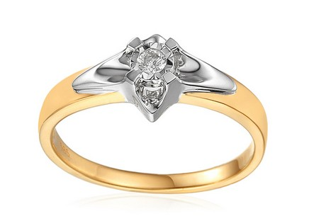 Gold Engagement Ring with Diamond 0.050 ct Always