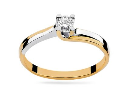Gold Engagement Ring with Diamond 0.080 ct Fabiana 2