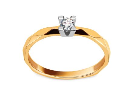 Gold Engagement Ring with Diamond 0.100 ct Annine