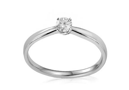 Gold Engagement Ring with Diamond 0.100 ct Ygritte white