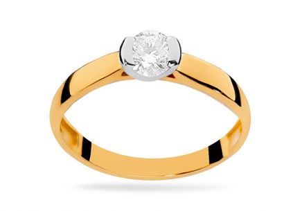 Gold Engagement Ring with Diamond Adair