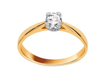 Gold Engagement Ring with Diamond Belen