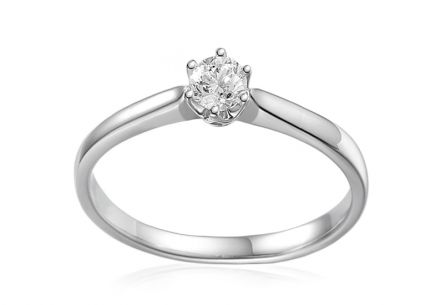 Gold Engagement Ring with Diamond Bonny 0.150 ct