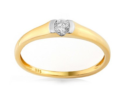 Gold Engagement Ring with Diamond Giona