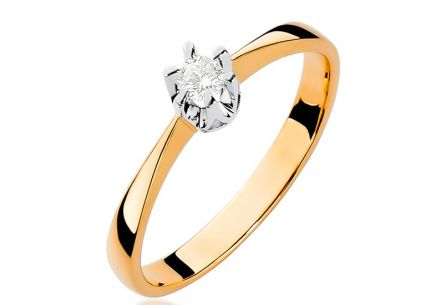 Gold Engagement Ring with Diamond Haidee