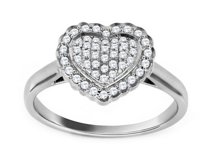 Gold Engagement Ring with Diamond Heart Tyliana