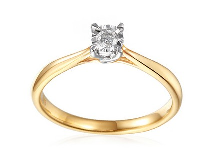 Gold Engagement Ring with Diamond Vianne