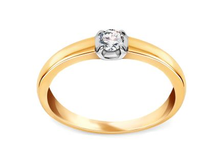 Gold Engagement Ring with Diamond Yanna