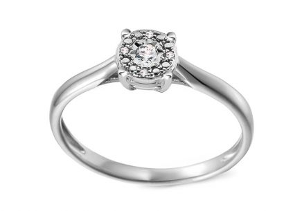 Gold Engagement Ring with Diamonds 0.030 ct Adalira