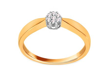 Gold Engagement Ring with Diamonds 0.080 ct Jariah
