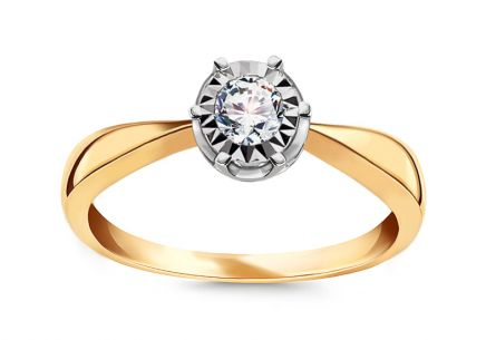 Gold Engagement Ring with Diamonds 0.080 ct Wynona 3
