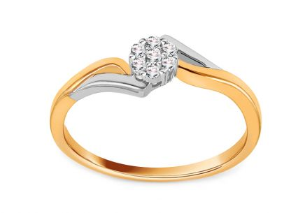 Gold Engagement Ring with Diamonds 0.100 ct Kaily