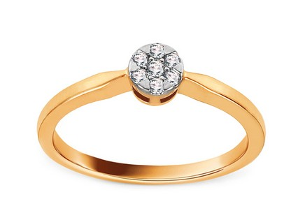 Gold Engagement Ring with Diamonds 0.100 ct Taline