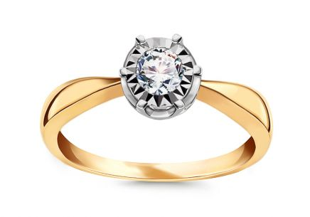 Gold Engagement Ring with Diamonds 0.100 ct Wynona 2