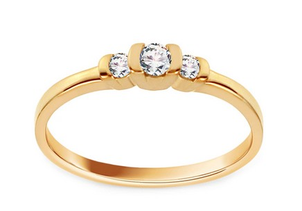 Gold Engagement Ring with Diamonds 0.110 ct Aizza